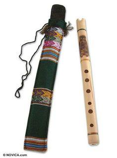 Bamboo quena flute, 'Night Owl' by NOVICA