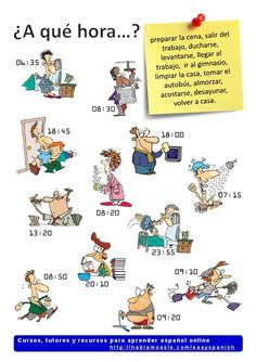 Learning Spanish vocabulary: routines and time
