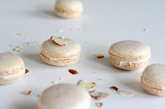 Almond Macarons with Almond Buttercream: Almond flavor is doubled down in these macarons, a favorite combination of yours truly