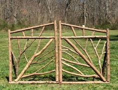 Great way to use trees and branches - Garten Ideen - Garden Arbor, Garden Trellis, Garden Fencing, Tree Garden, Garden Beds, Diy Fence, Backyard Fences, Backyard Landscaping, Fence Ideas