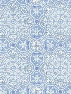 Cole & Son Wallpaper – Piccadilly – Soft Blue