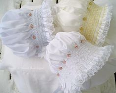 Three smocked baby bonnets - ahhhh, I've made several of these!