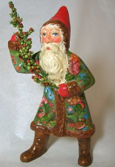 German Belsnickle Santa created from antique chocolate mold, bittersweethouse.com