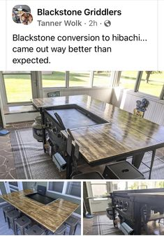Blackstone Griddle, Teppanyaki, Outdoor Furniture Sets, Outdoor Decor, Outdoor Projects, Dining Table, Home Decor, Grill Recipes, Backyard Ideas