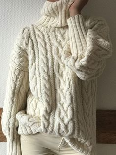 Winter Sweaters, Cozy Sweaters, Sweater Weather, Knitwear Fashion, Knit Fashion, Fashion Outfits, Poncho Sweater, Cable Knit Sweaters, Oversize Pullover