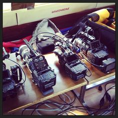 FS700 arsenal on a music video shoot. | Flickr – photo by Peter Prevec #fs700 @Movcam