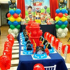 If you like PAW Patrol or the canine patrol, you're in luck today we bring you several decorating ideas for PAW Patrol's birthday or the c. Paw Patrol Birthday Decorations, Paw Patrol Party Favors, Paw Patrol Birthday Theme, 1st Birthday Boy Themes, 4th Birthday Parties, 3rd Birthday, Paw Patrol Centerpieces, Birthday Ideas, Paw Patrol Balloons