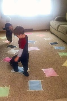 Don't step on the lava where the floor is lava (awesome for an indoor activity)
