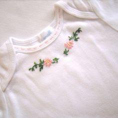 embroidered onesie...