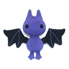 Crochet a very cute bat amigurumi with this fun pattern!