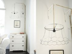 DIY anthropologie inspired ghost lamp. if I had a diamond shape bulb I wanted to show off....(see earlier pin)