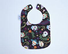 Baby Bib/ Day of the Dead Bib/  Día de Muertos / by TextileTrolley, $10.00