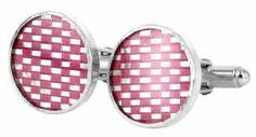 karen thompson, woven hot pink cufflinks in sterling silver. Designer Cufflinks, Hot Pink, Coin Purse, Purses, Shopping, Handbags, Pink, Purse, Bags