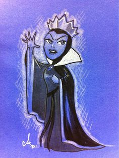 The Evil Queen by Amy Mebberson Disney Love, Disney Magic, Disney Art, Disney Pixar, Disney Stuff, Snow White Movie, Amy Mebberson, Disney Villains, Disney Characters