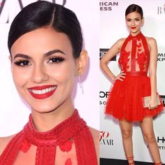 Lusine Galadjian, Celebrity Makeup Artist Like This Page · 16 hrs ·     About last night! Details on @victoriajustice's look for the @harpersbazaarus 150th birthday bash, celebrating the #150mostfashionablewomen! Hair by @paulnortonhair, styled by @madisonguest  #harpersbazaar150 #harpersbazaar —————— Primer: @beccacosmetics backlight priming filterFace: @armanibeauty luminous silk foundation Highlight: @beccacosmetics Opal highlight  Contour: @thebalm_cosmetics Betty Loy-M