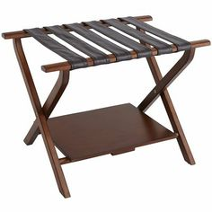For Grammy's suitcases?  Mason Luggage Rack - Rust