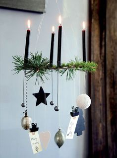 Make Christmas - DIY craft ideas - Christmas decorations Basic DIY - make mini tassels yourself - instructions Soon comes the pleasant advent, and we. Christmas Advent Wreath, Easy Christmas Ornaments, Decoration Christmas, Christmas Mood, Noel Christmas, Xmas Decorations, Scandinavian Christmas, Advent Wreaths, Hanging Ornaments
