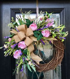 Thinking about DIY Easter Wreaths for front door? Here's the cutest and easiest Easter Wreath DIY & Easter door decoration ideas for you. Diy Spring Wreath, Spring Door Wreaths, Easter Wreaths, Diy Wreath, Grapevine Wreath, Wreath Burlap, Greenery Wreath, Burlap Door Decorations, Christmas Wreaths