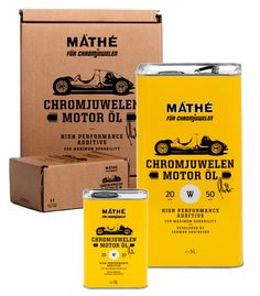 """Chromjuwelen Motor Öl """"We love the product packaging, which was created by Daniel Dondorp and Christian Kandel of Donkey."""""""