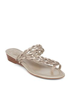 Vince Camuto Wedge Sandals - Imora Braided Demi Metallic