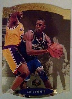 wholesale dealer e3b55 5b73a 1995 96 SP All Stars Gold Kevin Garnett Team Minnesota Timberwolves