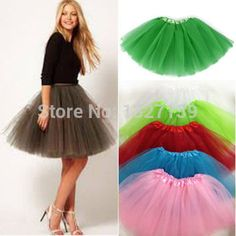 Darin Baby Girls Tutu Skirt Fluffy Soft Tutu Ballet Party Dance Pettiskirt Dress-up Layered Mini Skrit 3-4 Years , Black M