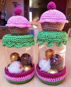 Häkelfieber: Muffins-Gläser