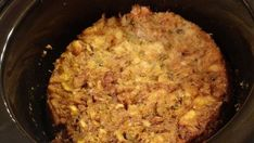This slow cooker dressing takes just a couple minutes to toss in the crock pot. It also makes a creamy, delicious addition to any holiday meal! Stuffing Recipes For Thanksgiving, Holiday Recipes, Holiday Meals, Thanksgiving 2020, Slow Cooker Recipes, Crockpot Recipes, Cooking Recipes, Chicken Recipes, Crockpot Dressing