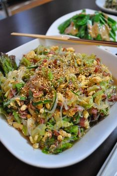 Vegetable Dishes, Vegetable Recipes, Healthy Dishes, Healthy Recipes, Delicious Recipes, Cafe Food, Dinner Menu, Asian Recipes, Easy Meals