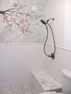 bathroom cherry blossom pink grey white - Bing Images
