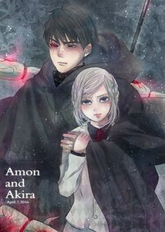 Amon /Akira----->WAT?!?! AMON BECAME A GHOUL?!?!?! (Im sorry i dont read the manga so i dont know)