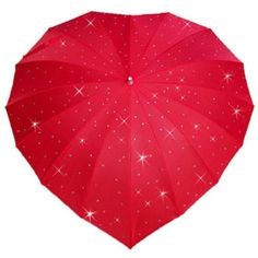 Embellish diamanté covered Heart Shaped Umbrellas available at www.hellobrolly.co.uk (available in 12 colours)