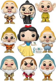 Branca de Neve e os Sete Anões - Bonecos Funko Pop!
