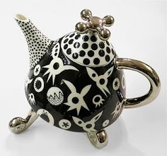 Black & White teapot with Faucet Lid Mark Dally