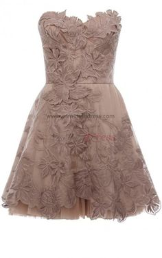 Silver Champagne Gray Appliques Strapless Knee-Length Silver Cocktail Dresses nm-0032 @ newstyledress.com