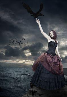 Morrigan, Lady of Crows by vision-of-shadows.deviantart.com on @deviantART