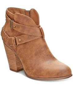 Xoxo's Kasper ankle booties accentuate jeans and skirts with bohemian inspiration in crisscross straps and cool Western styling. | Manmade upper; manmade sole | Imported | Almond closed-toe ankle boot