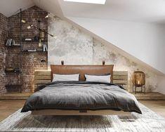 "Studio E na Instagrame: ""Spálňa s prvkami industriálneho štýlu #studioe #design #industrialdesign #interiordesign"" Bedroom, Furniture, Home Decor, Homemade Home Decor, Bedrooms, Home Furnishings, Interior Design, Home Interiors, Master Bedrooms"