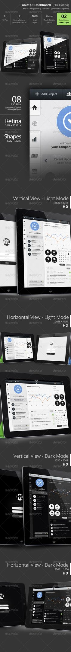 Tablet Dashboard Ui - Retina Ready  - User Interfaces Web Elements