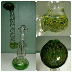 Hand blown glass rig Hand Blown Glass Pipes, Water Pipes, Wine Decanter