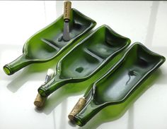 Melted Wine Bottle Glass Serving Dish with Cork by Rehabulous