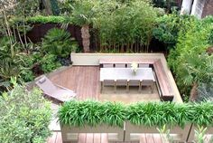 Small shady garden deck