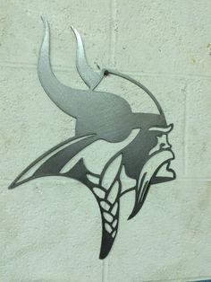 Minnesota Vikings steel metal wall art by LewisMetalWorks on Etsy