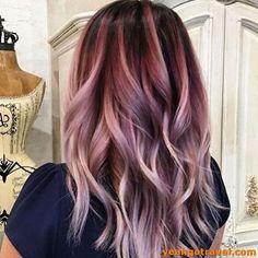 Pelo Color Caramelo, Maroon Hair, Hair Color Purple, Foil Hair Color, Blue Hair, Pretty Hair Color, New Hair Colors, White Hair, Pink Color