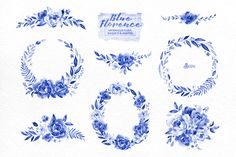 Blue Florence. Floral Collection - Illustrations - 2
