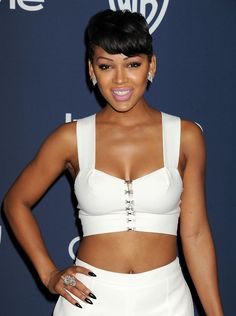 Meagan Good is another one of my role models. I want to be a actress, and she is one reason I want to act and who I would like to work with. Meghan Good, Black Actresses, Female Actresses, Cool Short Hairstyles, Beautiful Black Girl, Beautiful Women, Doja Cat, Black Girls Rock, Beautiful Actresses