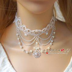 Choker ожерелье женские модели белое кружево старинные свадьбы дворец продлил…
