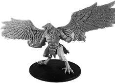 Hrudinn, Valhrafn Dead Hand, Bird People, Warhammer 40000, Lion Sculpture, Arms, Miniatures, Statue, Figurine, Warhammer 40k