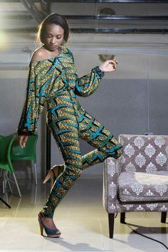 ankara jumpsuit  ~Latest African Fashion, African Prints, African fashion styles, African clothing, Nigerian style, Ghanaian fashion, African women dresses, African Bags, African shoes, Nigerian fashion, Ankara, Kitenge, Aso okè, Kenté, brocade. ~DK