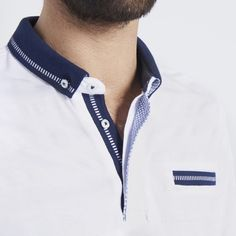 T-shirt & Polo Homme Pas Cher - Vente Polos & T-shirts Hommes T Shirt Polo, Polo Vest, Polo Shirt Outfits, Polo Shirt Design, Polo Design, Mens Polo T Shirts, Club Shirts, Boys T Shirts, Sport Fashion